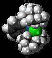 Iridium PCP pincer complex 3D spacefill.png