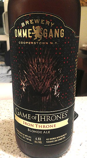 Iron Throne (A Song of Ice and Fire) - Game of Thrones Iron Throne Blonde Ale from Brewery Ommegang