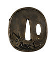 Ishiguro Masayoshi I - Tsuba with a Crane Soaring over Waves - Walters 51156 - Back.jpg