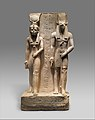 Isis and Wepwawet, god of Asyut,with the name of Siese,Overseer of the Two Granaries of Ramesses II MET DP310779.jpg