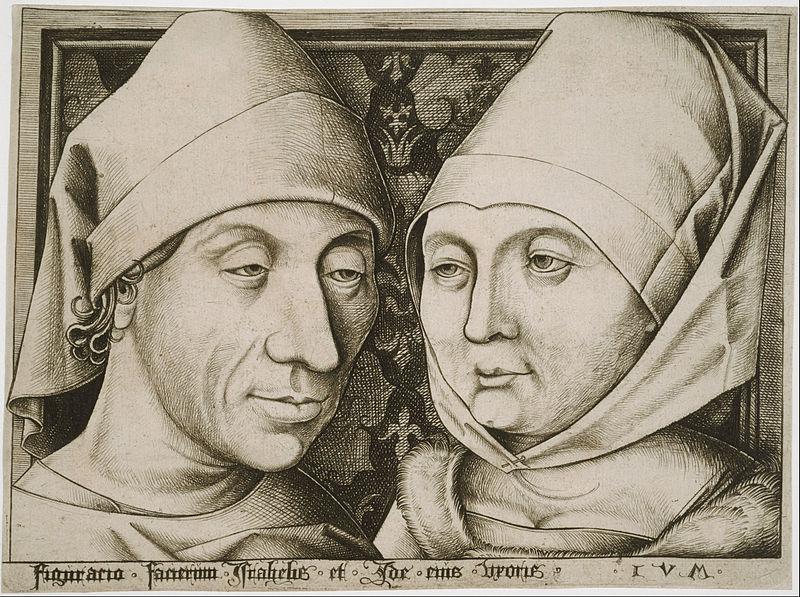 File:Israhel van Meckenem, German - Self-Portrait with His Wife, Ida - Google Art Project.jpg