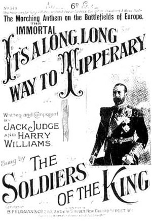 It's a Long Way to Tipperary - First World War era sheet music cover (UK issue).