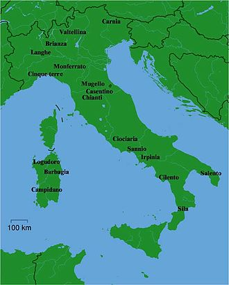 Music of Italy - Some common geographical names used as points of reference in Italy.