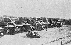 Battle of Agordat (1941) - Image: Italian tanks captured Agordat