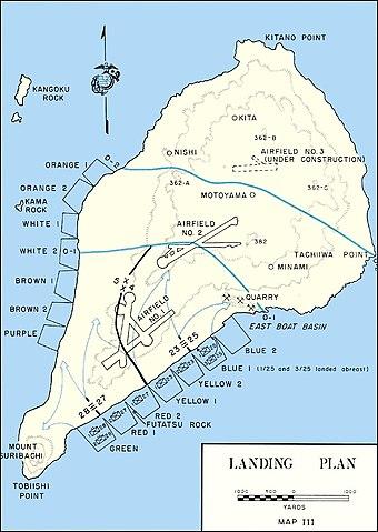 Iwo Jima - Landing Plan
