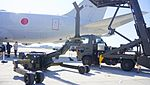 JASDF MHU-83D E Aerial Stores lift truck at Komaki Air Base February 23, 2014 01.jpg