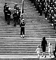 JFK's wife and kids follow his casket up Capitol steps, 1963.jpg