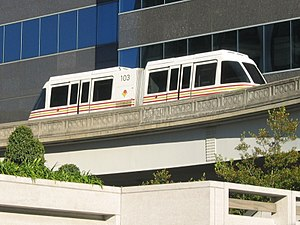 Jacksonville metropolitan area - JTA Skyway in downtown Jacksonville