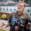 Jack Thompson speaks at the media briefing on New Years Eve.jpg