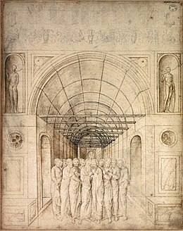 Jacopo Bellini - The Twelve Apostles in a Barrel Vaulted Passage - WGA01804.jpg
