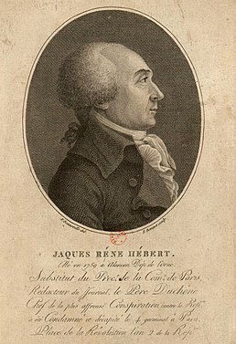 Jacques Hébert 1757-1794 French journalist and politician