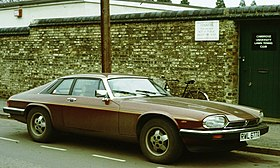 Jaguar XJS at tennis club 1981.jpg