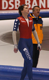 Jan Bos Dutch speed skater and racing cyclist