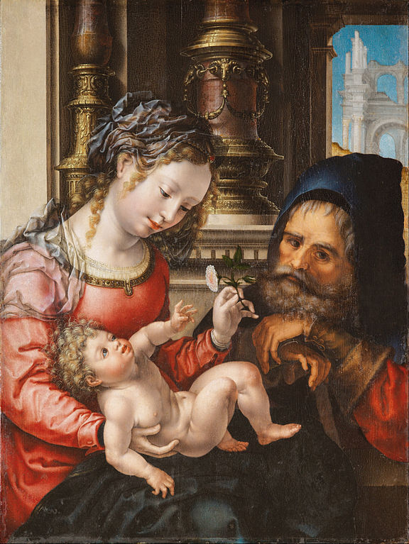 https://upload.wikimedia.org/wikipedia/commons/thumb/a/a1/Jan_Gossaert%2C_known_as_%E2%80%9CMabuse%E2%80%9D_-_The_Holy_Family_-_Google_Art_Project.jpg/576px-Jan_Gossaert%2C_known_as_%E2%80%9CMabuse%E2%80%9D_-_The_Holy_Family_-_Google_Art_Project.jpg
