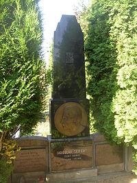Jaroslav Seifert grave at Kralupy nad Vltavou cemetery CZ 0007.jpg