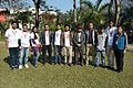 Jayanta Nath with Bangladeshi Wikimedians - Bengali Wikipedia 10th Anniversary Celebration - Jadavpur University - Kolkata 2015-01-10 3109.JPG
