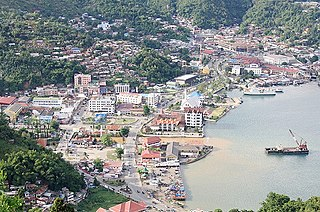 Jayapura City in Papua, Indonesia