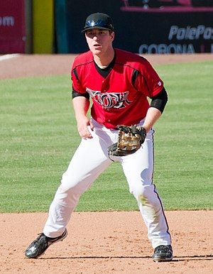 Jedd Gyorko - Gyorko with the Lake Elsinore Storm, Class A-Advanced affiliates of the San Diego Padres, in 2011