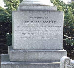 Jedidiah Morse - Morse's gravestone at the Grove Street Cemetery in New Haven.