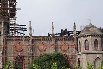 Roman Catholic Diocese of Ningbo - Sacred Heart Cathedral after the fire of 2014