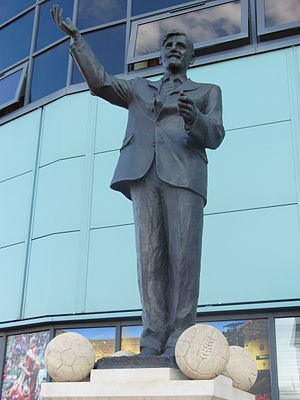 Ricoh Arena - Jimmy Hill Statue just outside the entrance to the Lloyds Pharmacy Stand