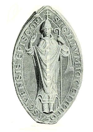 Archbishop of Glasgow - The seal or signet of Jocelin, a Cistercian monk and former Abbot of Melrose, who became one of the most significant bishops of Glasgow.
