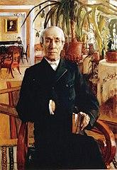 Portrait of Baron Johan Philip Palmén, Vice Chancellor of the University