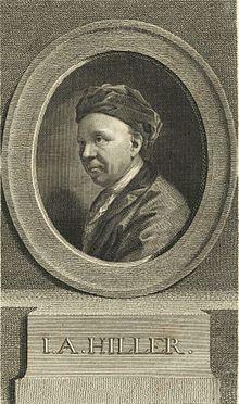 Johann Adam Hiller, nach einem Gemälde von Anton Graff (Quelle: Wikimedia)