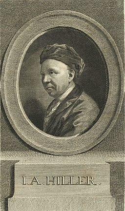 Johann Adam Hiller by Geyser 1775