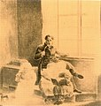 Johann Friedrich Wilhelm Lesenberg (1802-1857) - Selbstbildnis mit Kindern, Tusche, Feder, Blei.jpg