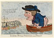 John Bull peeping into Brest