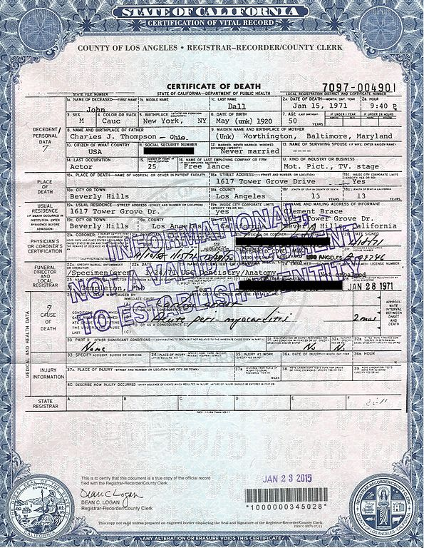 Filejohn Dall Death Certificate 1971g Wikimedia Commons