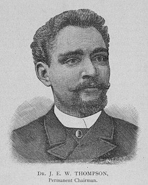 "John E. W. Thompson - ""Dr. J. E. W. THOMPSON, Permanent Chairman,"" 1892"