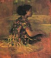 John La Farge - Girl in Grass Dress (Seated Samoan Girl) (1890).jpg
