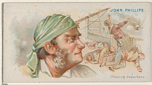 John Phillips (pirate) - Image: John Phillips, Chasing Deserters, from the Pirates of the Spanish Main series (N19) for Allen & Ginter Cigarettes MET DP835047