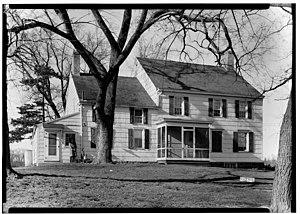 Millstone, New Jersey - Image: John Van Doren House Millstone New Jersey HABS109828pv