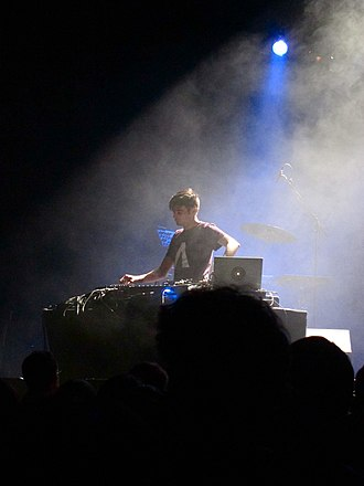 Jon Hopkins - Hopkins performing live in 2011