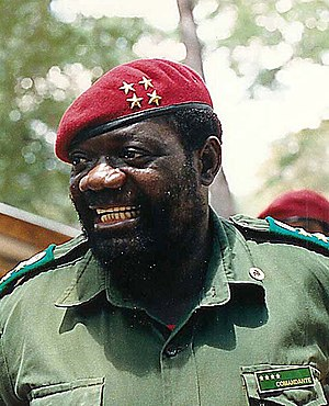 1980s in Angola - U.S.-supported UNITA leader Jonas Savimbi.