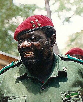 Jonas Savimbi - Jonas Savimbi in 1989