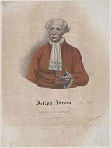 Josef Allram, zeitgenössische Zeichnung (Quelle: Wikimedia)