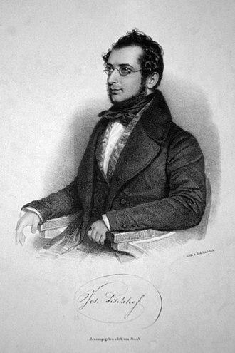 Joseph Fischhof - Joseph Fischhof, lithograph by Andreas Staub, ca. 1840
