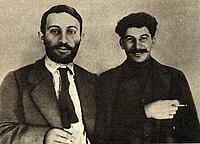 Joseph Stalin and Suren Spandarjan, 1915