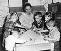 Joyce Hathaway with preschool group, Kansas City Children's Home, Kansas City, Missouri, 1963 (16205066162).jpg