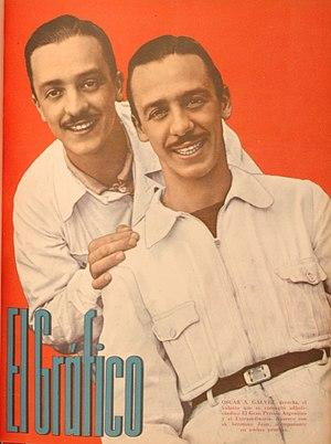 Juan Gálvez - Juan (left) and brother Oscar, 1947.