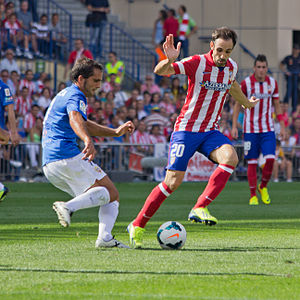 Juanfran (footballer, born 1985) - Juanfran (right) playing against Almería in 2013