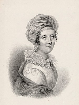 Amélie-Julie Candeille - Julie Candeille ca. 1810, engraving by Coeuré after Pierre-Paul Prud'hon