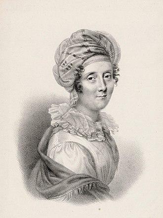 Amélie-Julie Candeille - Julie Candeille ca. 1810, engraving by Coeuré after Pierre-Paul Prud'hon