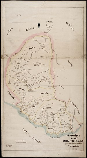 Fort Saint Anthony - Image: Julius Vitringa Coulon (1859) Figuratieve kaart der afdeeling Axim, kust van Guinea