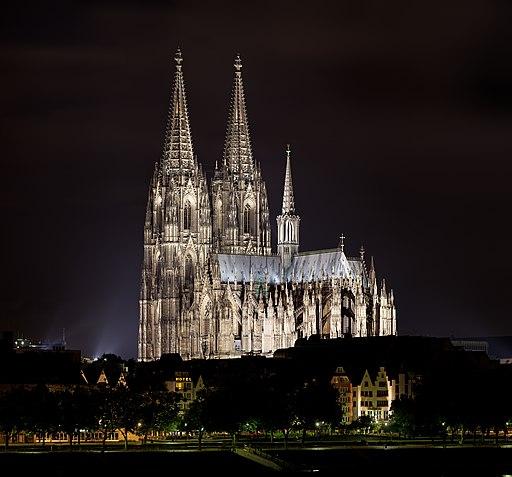 Kölner Dom nachts 2013