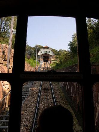 Königstuhl (Odenwald) - Image: Königstuhl funicular station